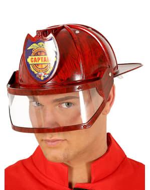 Casco de capitán de bomberos para adulto