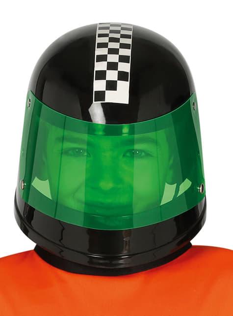 Casco de piloto de fórmula 1 negro infantil