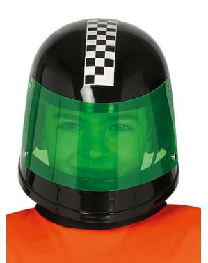 Svart formell 1 sjåfør hjelm til barn