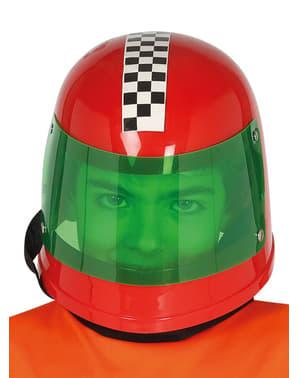 Casco de piloto de fórmula 1 rojo infantil