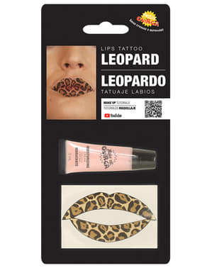 Leopard lips tattoo for adults