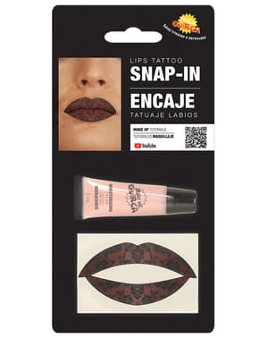 Lace lips tattoo for adults