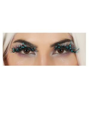 Peacock feather eyelashes for adults