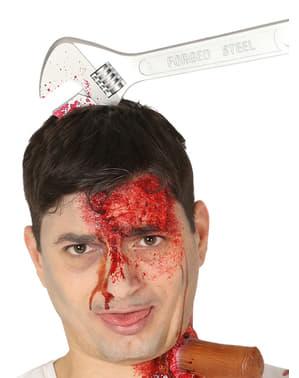Bandolete de chave inglesa na cabeça para adulto