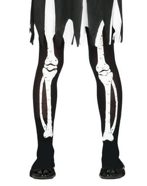 Leggings de esqueleto infantil