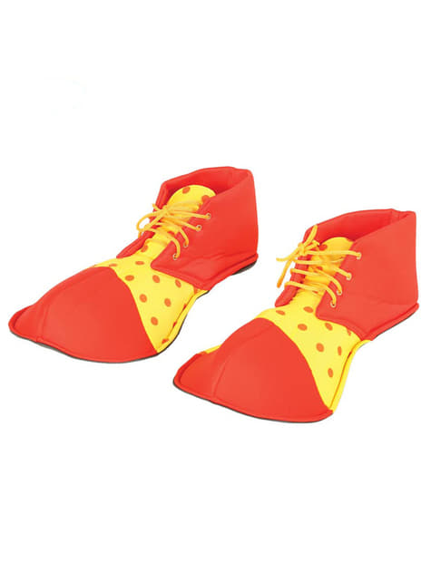 Zapatos de payaso rojos para adulto