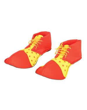 Czerwone buty klowna dla dorosłych