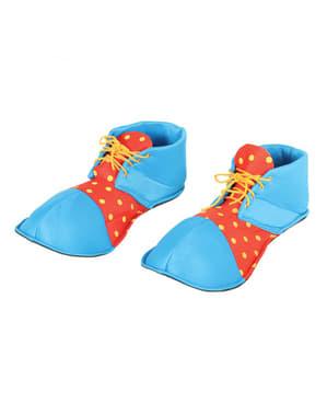 Blauwe clown schoenen voor volwassenen