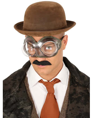 Round steampunk glasses for adults