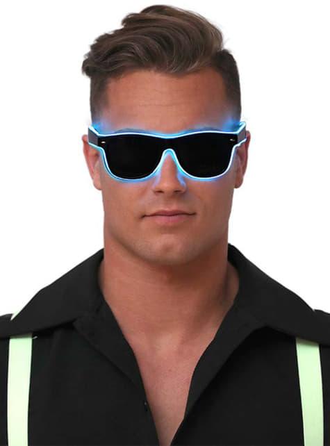 Gafas de neón azules para adulto