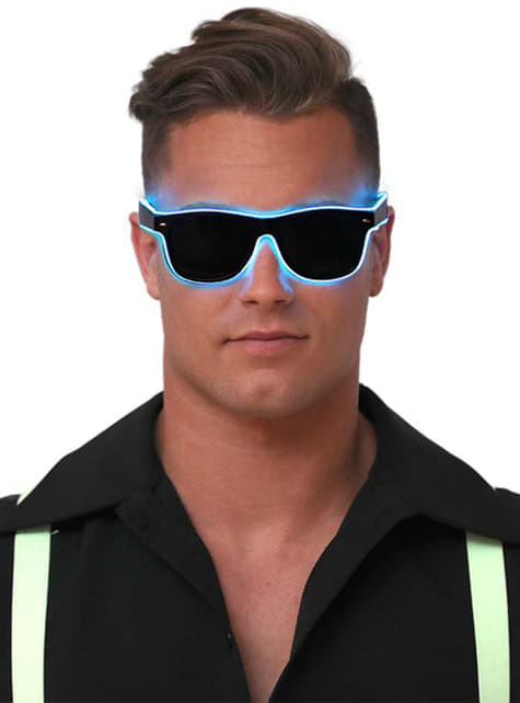 Neon blue glasses for adults