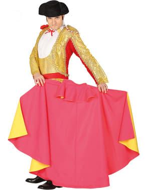 Capote de torero rojo y amarillo para adulto