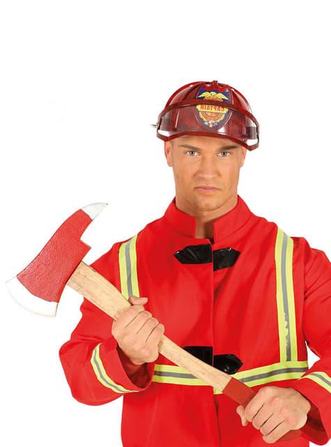 Hacha de bombero roja para adulto