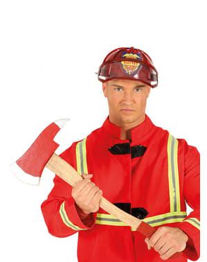 Machado de bombeiro vermelho para adulto