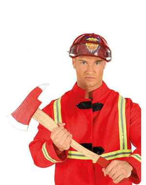 Yxa brandman röd för vuxen