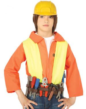 Cinturón de herramientas y casco infantil