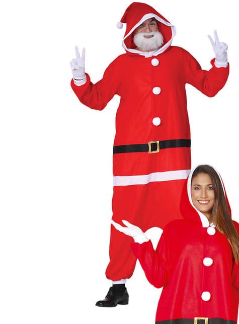 Disfraz de Papá Noel onesie para adulto