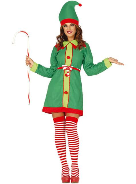 Green Christmas elf costume for women