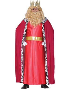 Red magician king costume for men