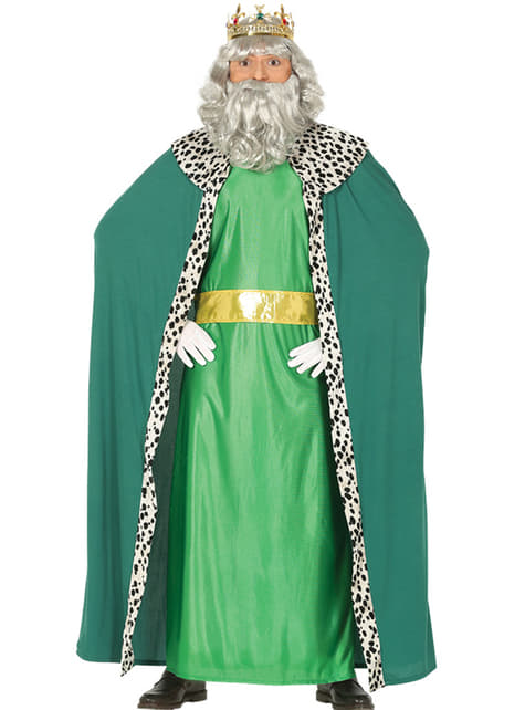 Disfraz de rey mago verde classic para hombre