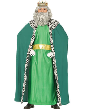 Green magician king costume for men