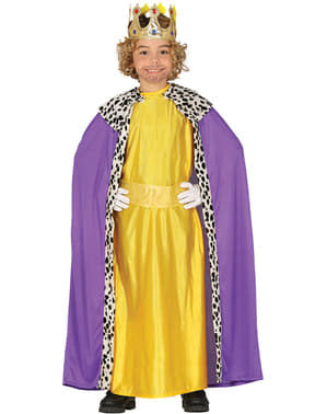 Yellow king magician costume for boys