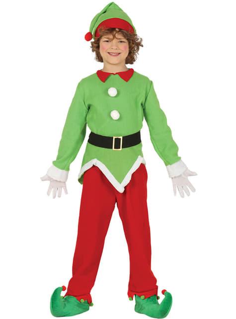 Disfraz de elfo navideño verde infantil