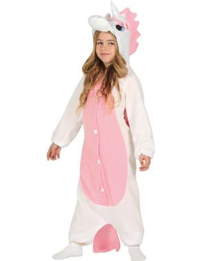 Eenhoorn onesie kostuum voor kinderen