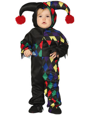 Maskeraddräkt harlekin svart för bebis