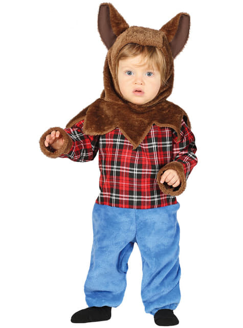 Haariges Werwolf Kostüm für Babys