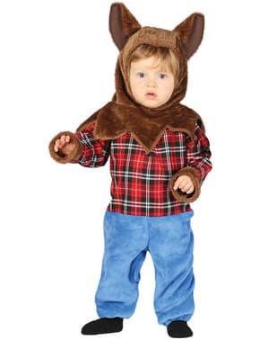 Maskeraddräkt hombre lobo hårig för bebis