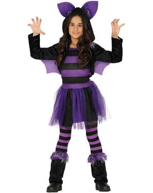 Disfraz de murciélago morado para niña