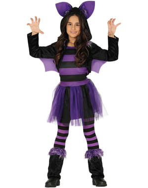 Purple bat costume for girls