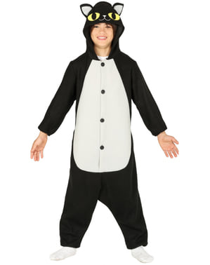 Costum de motan negru onesie pentru adult