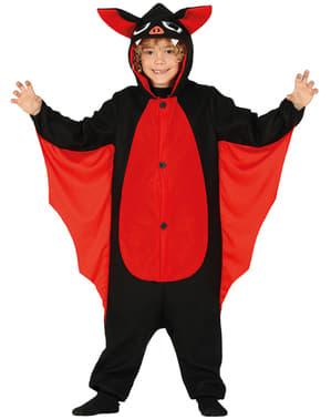 Fato de morcego vermelho infantil