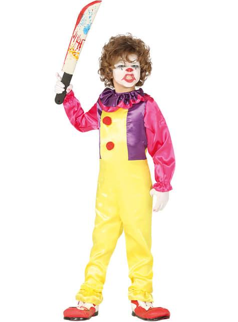 Maskeraddräkt clown elak barn