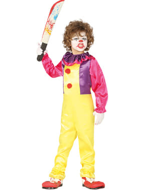 Evil clown costume for boys
