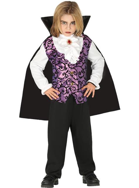 Disfraz de vampiro morado para niño