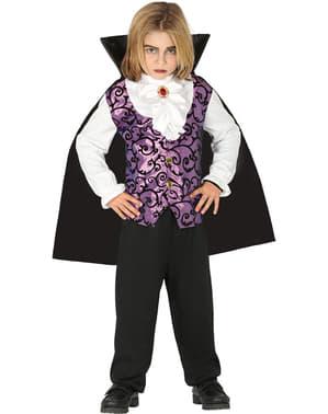 Paars vampier kostuum voor jongens
