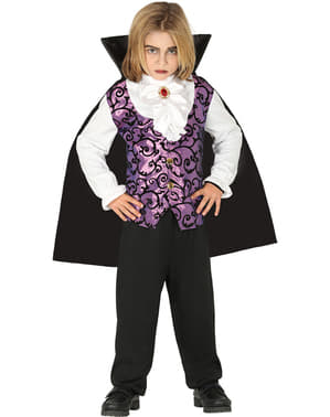 Purple vampire costume for boys
