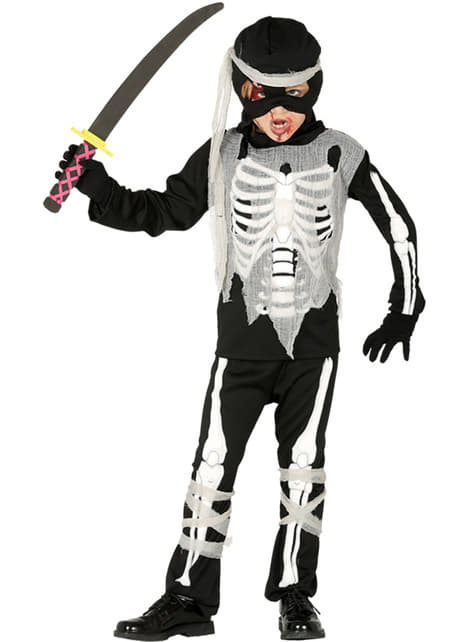 Chlapecký kostým nija kostlivec