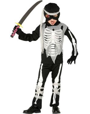 Fato de esqueleto ninja para menino