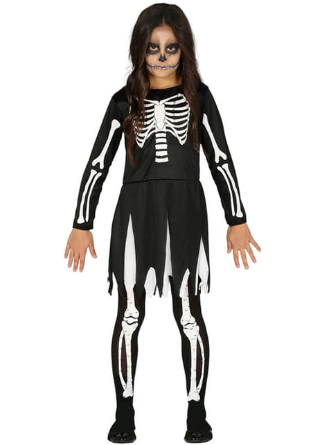 Disfraz de esqueleto classic para niña