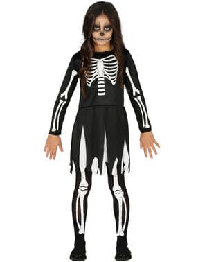 Skelett Kostüm classic für Mädchen