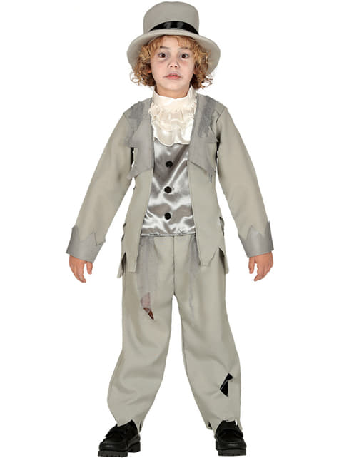 Grey ghost costume for boys