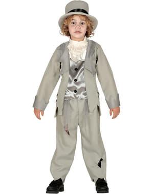 Grå Zombiebrudgom Kostyme til Gutter