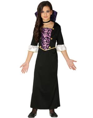 Disfraz de vampiresa morada para niña