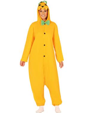 Kürbis Onesie Kostüm für Erwachsene