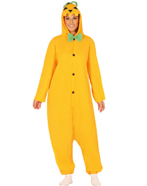 Pumpkin onesie costume for adults