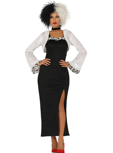 Cruella villain costume for women